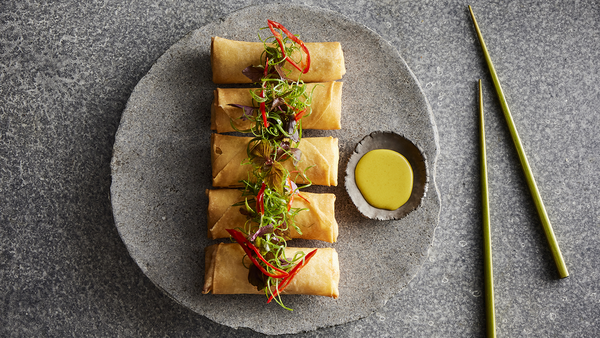 Moreton Bay Bug Spring Roll at Flying Fish, part of their Lunar New Year menu.