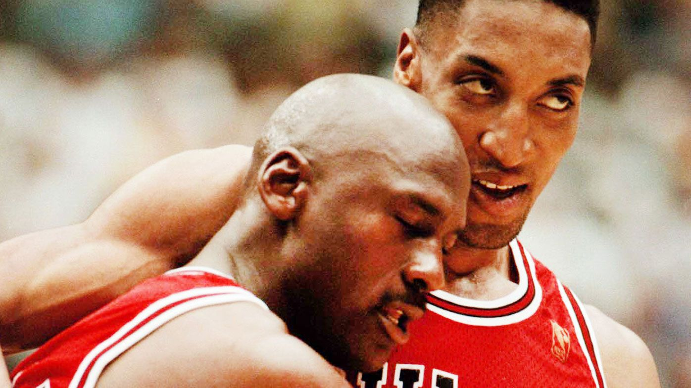 Jordan and Pippen formed arguably the best pairing in NBA history. (Getty)