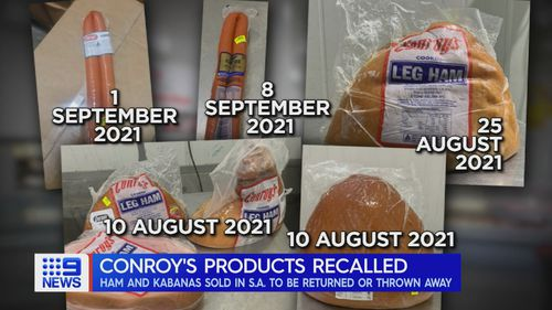 Conroys meat products recalled in South Australia over contamination fears