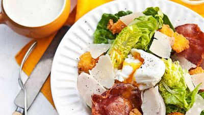 <strong>Smoked chicken Caesar salad with polenta croutons</strong>
