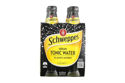 Schweppes Indian Tonic Water: 8.6g sugar per 100ml