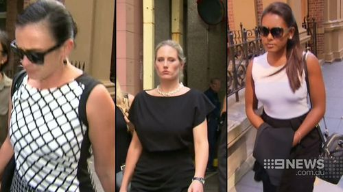 Kathryn Leis, Jessica Hall and Rebecca Prins all said they did not believe Huxley feared for his life before he was killed. (9NEWS)