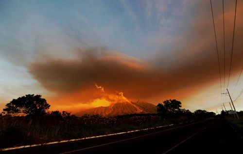 The Volcano of Fire in Guatemala is one of the most active in Central America.