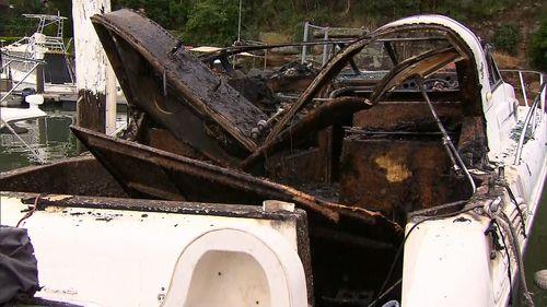 Tom Uglys Bridge boat fire.