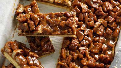 <strong>Pecan caramel slice</strong>