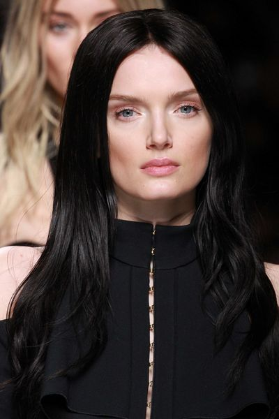 Lily Donaldson traded blonde for black