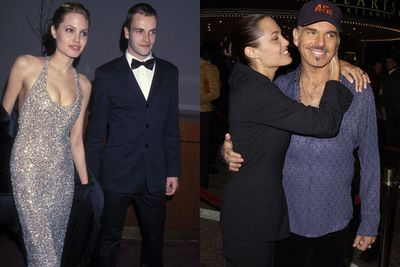 Before you get carried away by the romantic on-set love story, keep in mind that Brad wasn't the first co-star Angie fell for. <br/><br/>In 1996, the Hollywood vixen married ex-hubby Jonny Lee Miller after starring in <i>Hackers</I> together... and that lasted a whole three years. Following her divorce in 1999, Ange fell into the arms of fellow actor Billy Bob Thornton in 2000... with the couple tying the knot in Vegas two months after filming their flick <I>Pushing Tin</I>.<br/><br/>Three's a trend, right guys?<br/><br/>Source: Getty <br/>