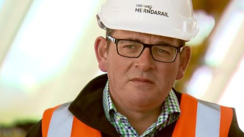 The premier made the announcement today. Picture: 9NEWS