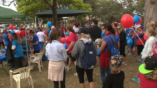 Supporters gathered at the Kendall showgrounds. (9NEWS)