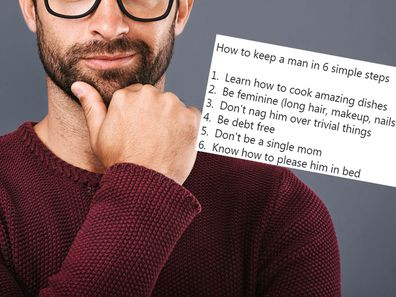 "A man on Twitter has been slammed for his sexist list on ""how to keep a man""."