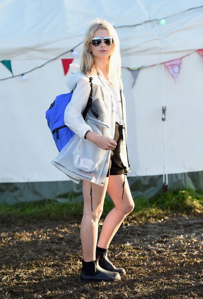 Lottie Moss sported I-woke-up-like-this locks.