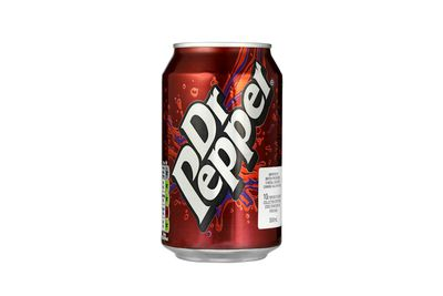 Dr Pepper: 7.2g sugar per 100ml