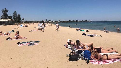Gorgeous beach weather in Melbourne. (Sean Davidson)