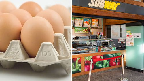 Subway Australia changes to cage-free eggs