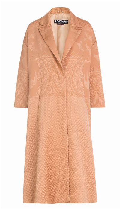 "<a href=""http://http://www.stylebop.com/au/product_details.php?id=599818"" target=""_blank"">Jacquard Coat, $2,527, Rochas</a>"