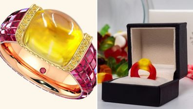 The Haribo inspired ring has been released in time for Valentine's Day