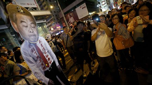 Hong Kong leader says foreign forces behind protests