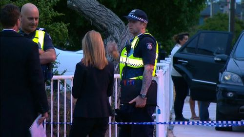 Police at the Allison St home. (9NEWS)