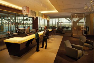 <strong>London, England: British Airways Concorde room</strong>
