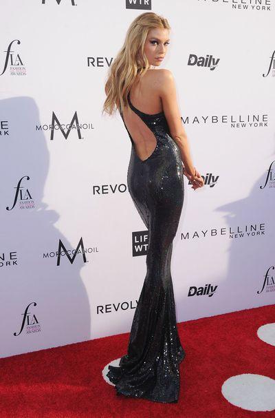 Stella Maxwell at the 2017 Los Angeles Fashion Awards