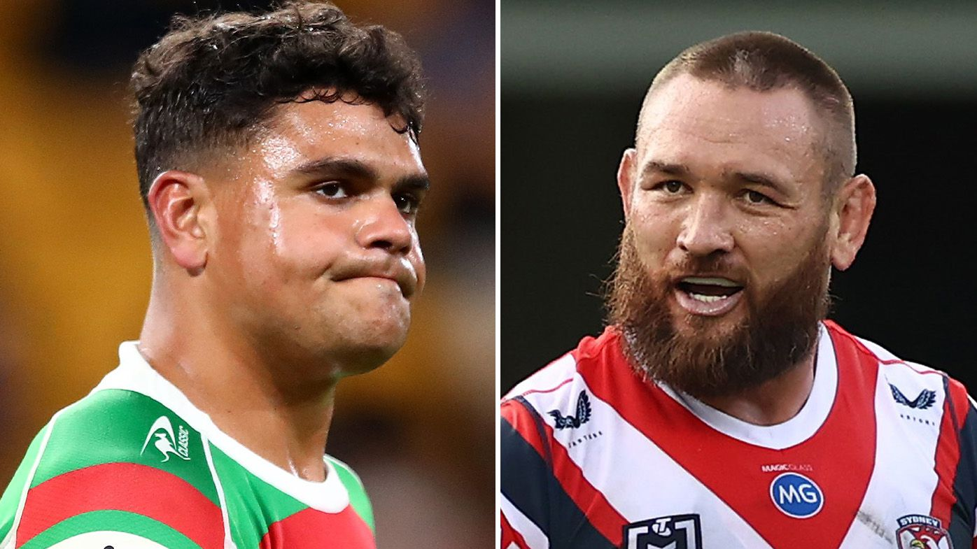 Latrell Mitchell, Jared Waerea-Hargreaves locked in blistering tunnel stand-off after brutal hit on Joey Manu