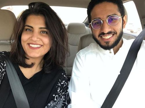Loujain al-Hathloul posted this photo of her and Fahad al-Butairi on Instagram in 2017.