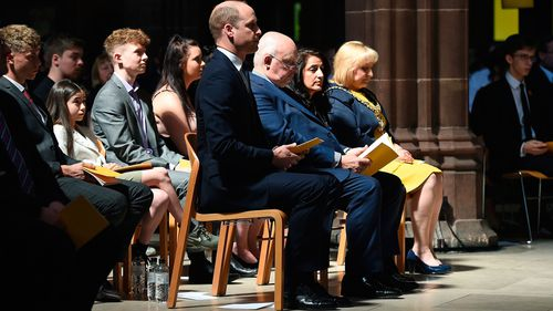 The Duke of Cambridge attended the service. (AAP)