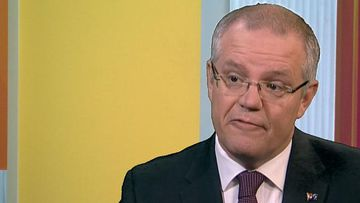 9RAW: Audio equipment error triggers bleep in Scott Morrison interview