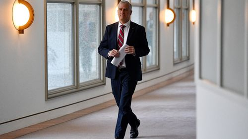 The Treasurer joined other politicians, such as Nationals leader and Deputy Prime Minister Michael McMcormack who did not watch the televised interview. Picture: AAP.