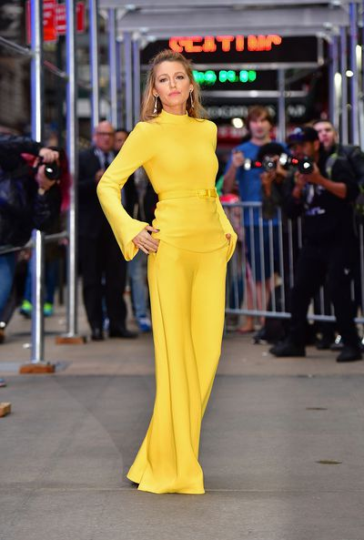 Blake Lively in Brandon Maxwell, New York City October 2017