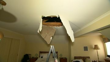 'Burglar' falls through ceiling of Melbourne home