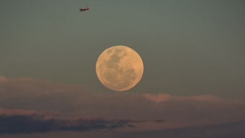 The moon lit up Australian skies. (AAP)