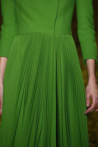 <p>Christian Dior Haute Couture Spring 2017.</p> <p>Classic Dior nipped-in waists, modernised with full pleated skirts.</p>