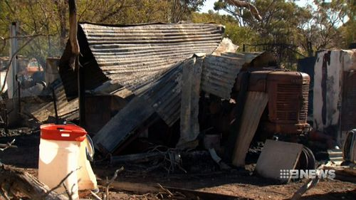 The Gilgering home was completely destroyed in the blaze. (9NEWS)