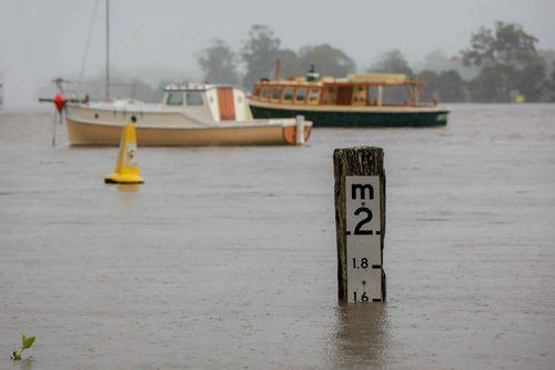 Sungai Hastings di Port Macquarie banjir