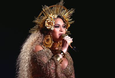 Beyoncé at the 59th Grammy Awards in Los Angeles on February 12, 2017