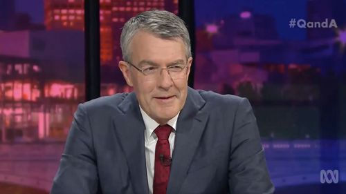 Shadow Attorney-General Mark Dreyfus on the Q&A panel.
