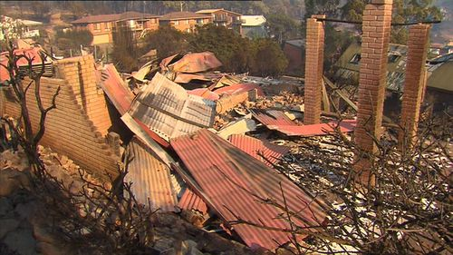 Locals haven't yet been allowed back home to survey the devastation. Picture: 9NEWS