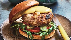 Pork and stilton burger