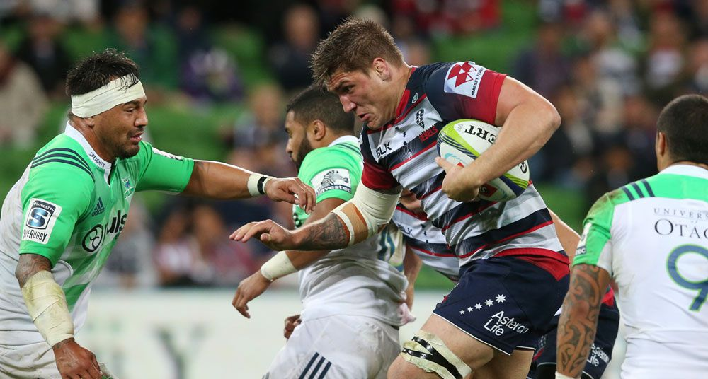 Sean McMahon in action for the Rebels against the Highlanders. (AAP)
