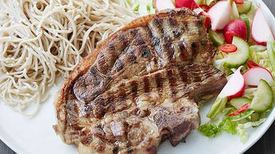 "Recipe: <a href=""http://kitchen.nine.com.au/2016/05/05/11/19/ita-buttroses-grilled-lamb-forequarter-chops-with-soba-noodle-salad"" target=""_top"">Ita Buttrose's grilled lamb forequarter chops with soba noodle salad</a>"