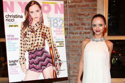 Christina Ricci attends her Nylon Magazine cover dinner in New York.