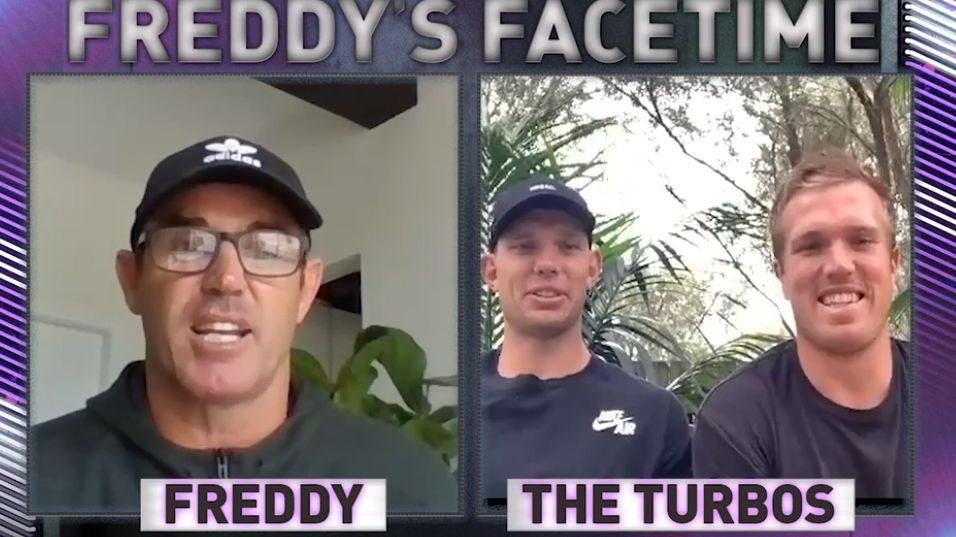 Brad Fittler speaks to the Trbojevic brothers.