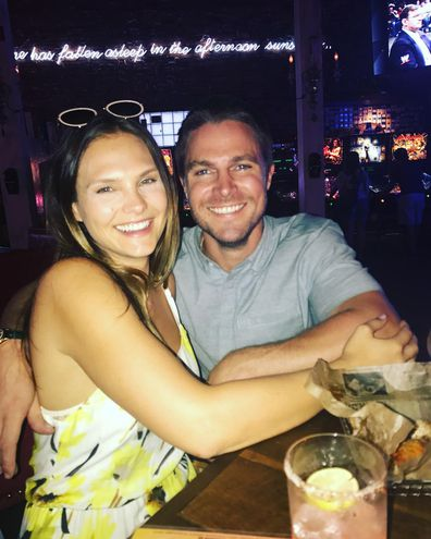 Stephen Amell with wife Cassandra Jean.