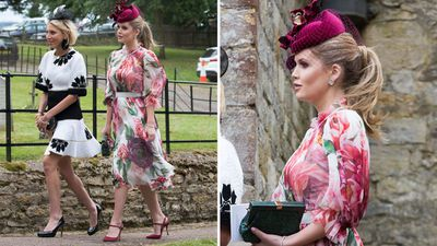Lady Kitty Spencer attends a family wedding, June 2018