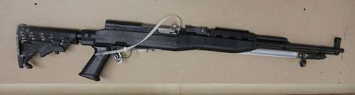 A SKS semi-automatic rifle was bought legally by Kam Mcleod.