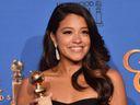 Gina Rodriguez, Best Actress, Jane the Virgin, Golden Globes, trophy