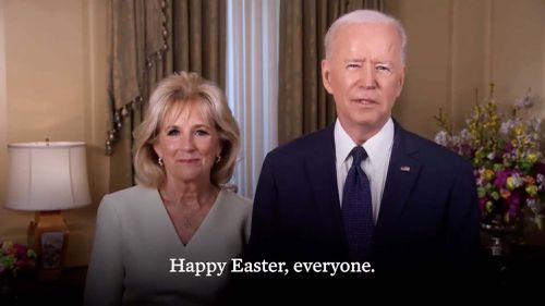 The Bidens shared in Easter message for America.