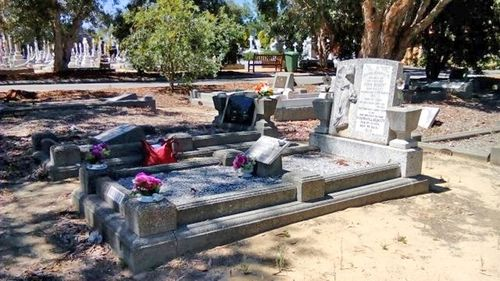 The Beckett family grave at Karrakatta Cemetery, where several members of Linda Chapman's family have been laid to rest.