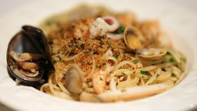 Sydney Seafood School's linguine ai frutti di mare (with fruits of the sea)